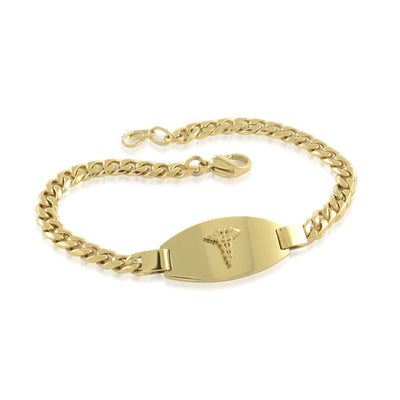 YELLOW-IP MEDIC LOGO LADIES BRACELET