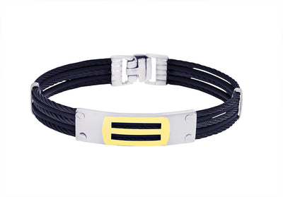 18K BLACK-IP 5-ROW CABLE BRACELET