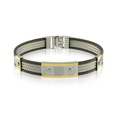 18K Gold Black Cable Bracelet