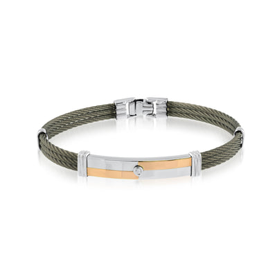 ITALGEM STEEL MEN' S STEEL CABLE BRACELET