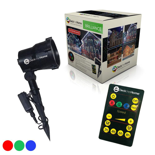 Brilliance Premium Red Green & Blue Laser Light Full Motion Projector w/ Remote