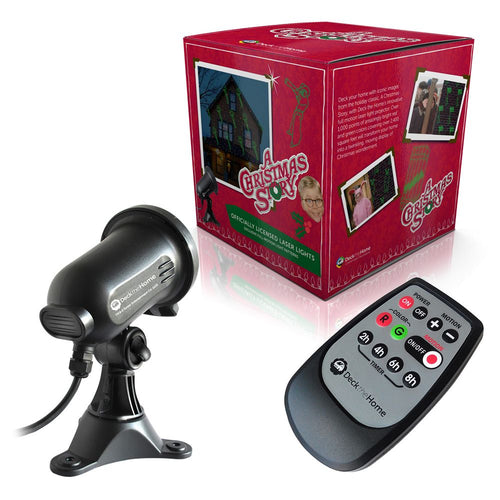 Red and Green Laser Light with 'A Christmas Story' Theme Full Motion w/ remote