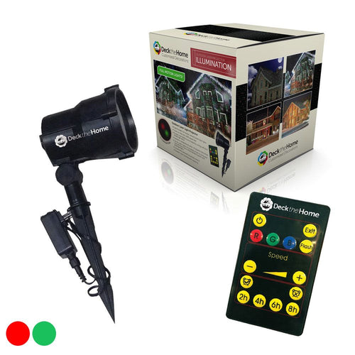 Illumination - Full Motion - Red Green Firefly - Laser Light Projector