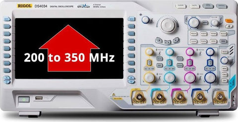 BW2T3-MSO/DS4000 estensione banda a 350MHz   Upgrade Option - Rigol Italia