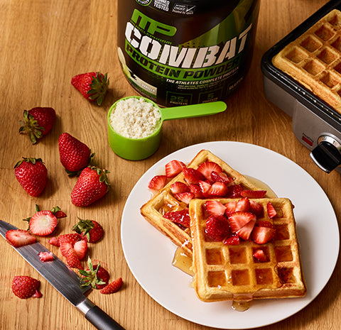 RECIPE: Strawberry Shortcake Protein Waffles