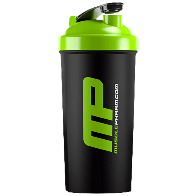 MusclePharm Black & Green Shaker Bottle