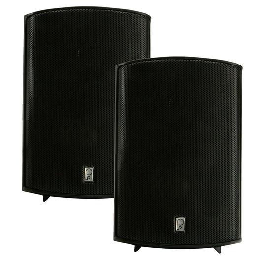 "Poly-Planar Compact Box Speaker - 7-11/16"" x 5-1/8"" x 4-11/16"" - (Pair) Black"