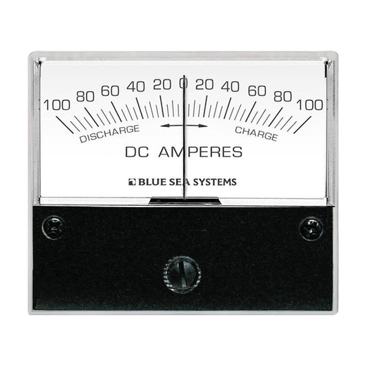 "Blue Sea 8253 DC Zero Center Analog Ammeter - 2-3/4"" Face, 100-0-100 Amperes DC"