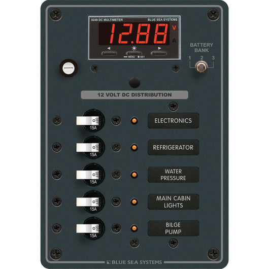 Blue Sea 8401 DC 5 Position w/Multi-Function Meter
