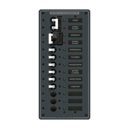 Blue Sea 3566 AC Toggle Source Selector (230V) - 2 Sources + 9 Positions