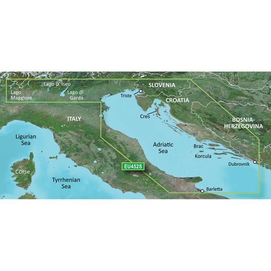 Garmin BlueChart® g3 Vision® HD - VEU452S - Adriatic Sea, North Coast - microSD™/SD™