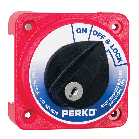Perko 9612DP Compact Medium Duty Main Battery Disconnect Switch w/Key Lock