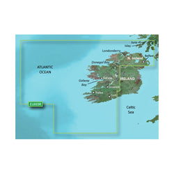 Garmin BlueChart® g2 HD - HEU005R - Ireland, West Coast - microSD™/SD™