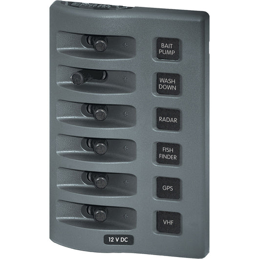 Blue Sea 4307 WeatherDeck® 12V DC Waterproof Switch Panel - 6 Position