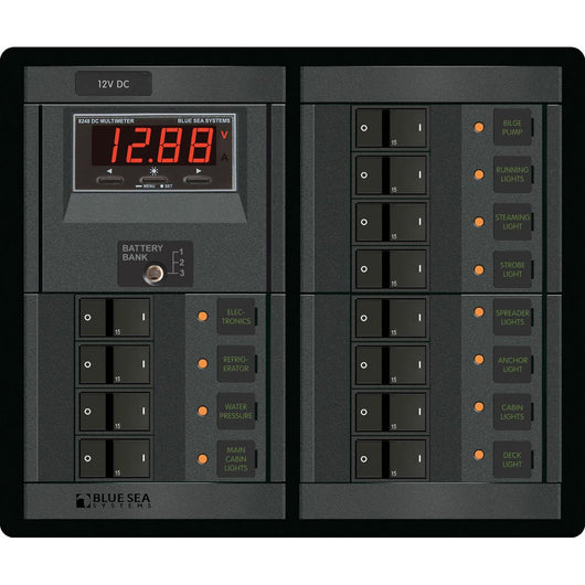 Blue Sea 1217 12V DC 12 Position w/Digital Meter