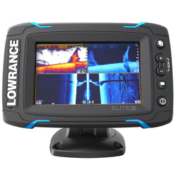 Lowrance Elite-5 Ti Touch Combo - Med/High/455/800 HDI Transom Mount Transducer w/Navionics+ Chart