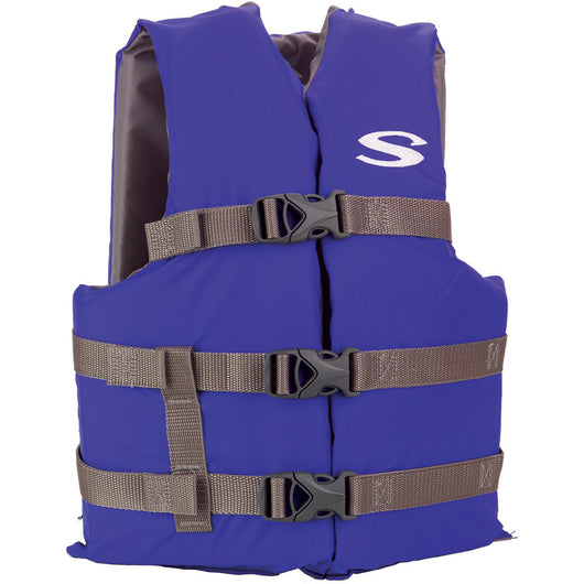 Stearns Classic Youth Life Jacket f/50-90lbs - Blue/Grey