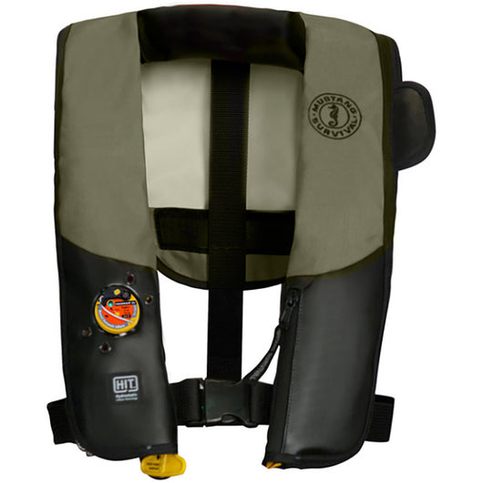Mustang HIT Inflatable PFD f/Law Enforcement - Automatic - Olive/Black w/Customizable Back Flap