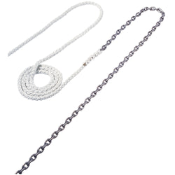 "Maxwell Anchor Rode - 20'-3/8"" Chain to 200'-5/8"" Nylon Brait"