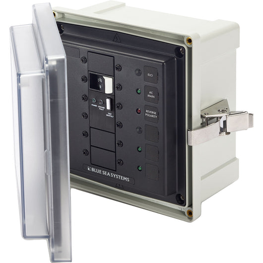 Blue Sea 3118 SMS Surface Mount System Panel Enclosure - 120V AC / 50A ELCI Main - 2 Blank Circuit Positions