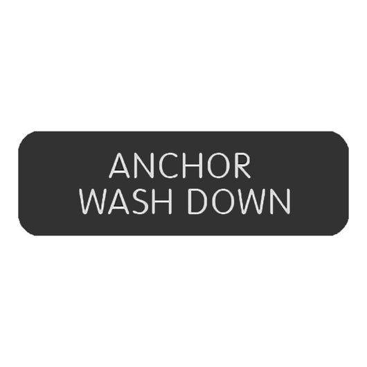 "Blue Sea Large Format Label - ""Anchor Wash Down"""