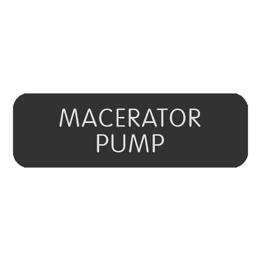 "Blue Sea Large Format Label - ""Macerator Pump"""