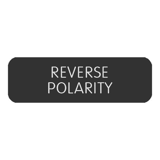 "Blue Sea Large Format Label - ""Reverse Polarity"""