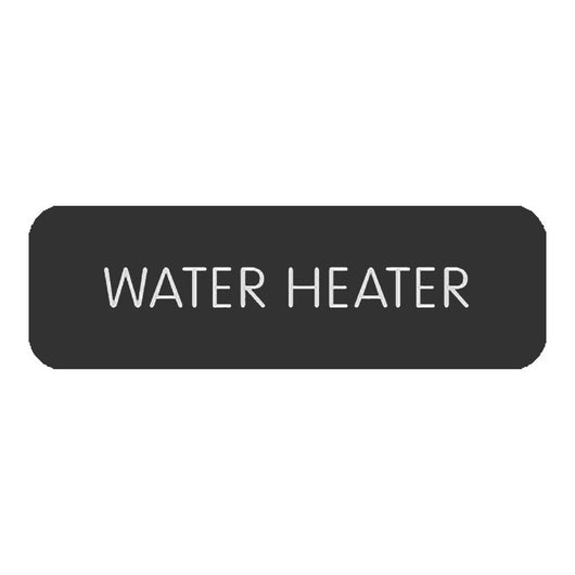 "Blue Sea Large Format Label - ""Water Heater"""