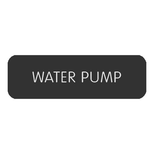 "Blue Sea Large Format Label - ""Water Pump"""
