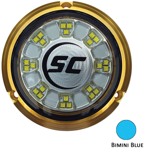 Shadow-Caster SCR-24 Bronze Underwater Light - 24 LEDs - Bimini Blue