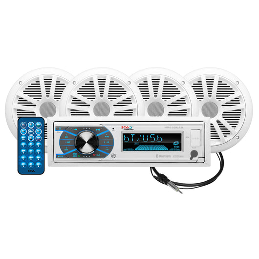 "Boss Audio MCK632WB.64 Package AM/FM Digital Media Receiver; 2 Pairs of 6.5"" Speakers & Antenna"