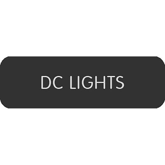 "Blue Sea Large Format Label - ""DC Lights"""
