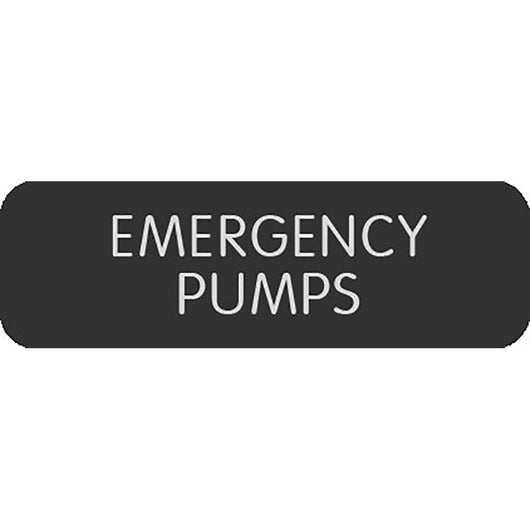 "Blue Sea Large Format Label - ""Emergency Pumps"""