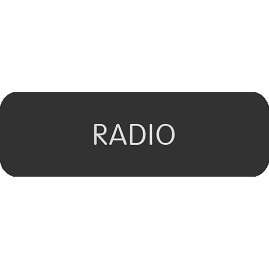 "Blue Sea Large Format Label - ""Radio"""