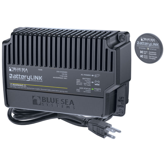 Blue Sea 7608 BatteryLink® Charger (North America) - 12V - 20Amp - 2 Bank