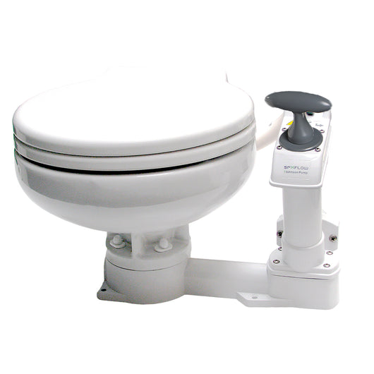 Johnson Pump AquaT™ Manual Marine Toilet - Super Compact