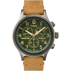 Timex Expedition® Scout™ Chronograph Leather Watch - Green Dial