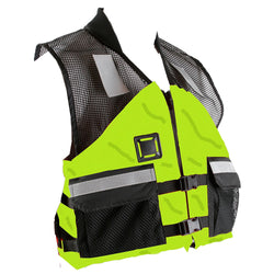 First Watch AV-500 Industrial Mesh Vest (USCG Type III) - Hi-Vis Yellow/Black - Medium