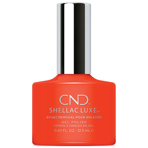 CND Shellac Luxe Electric Orange Gel Polish (12.5ml)