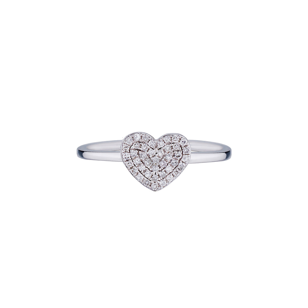 PAVÉ DIAMOND HEART RING
