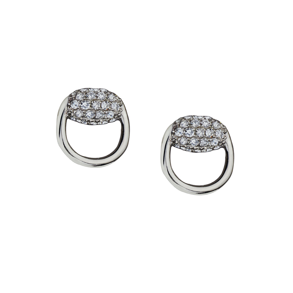 PAVÉ DIAMOND STIRRUP STUDS