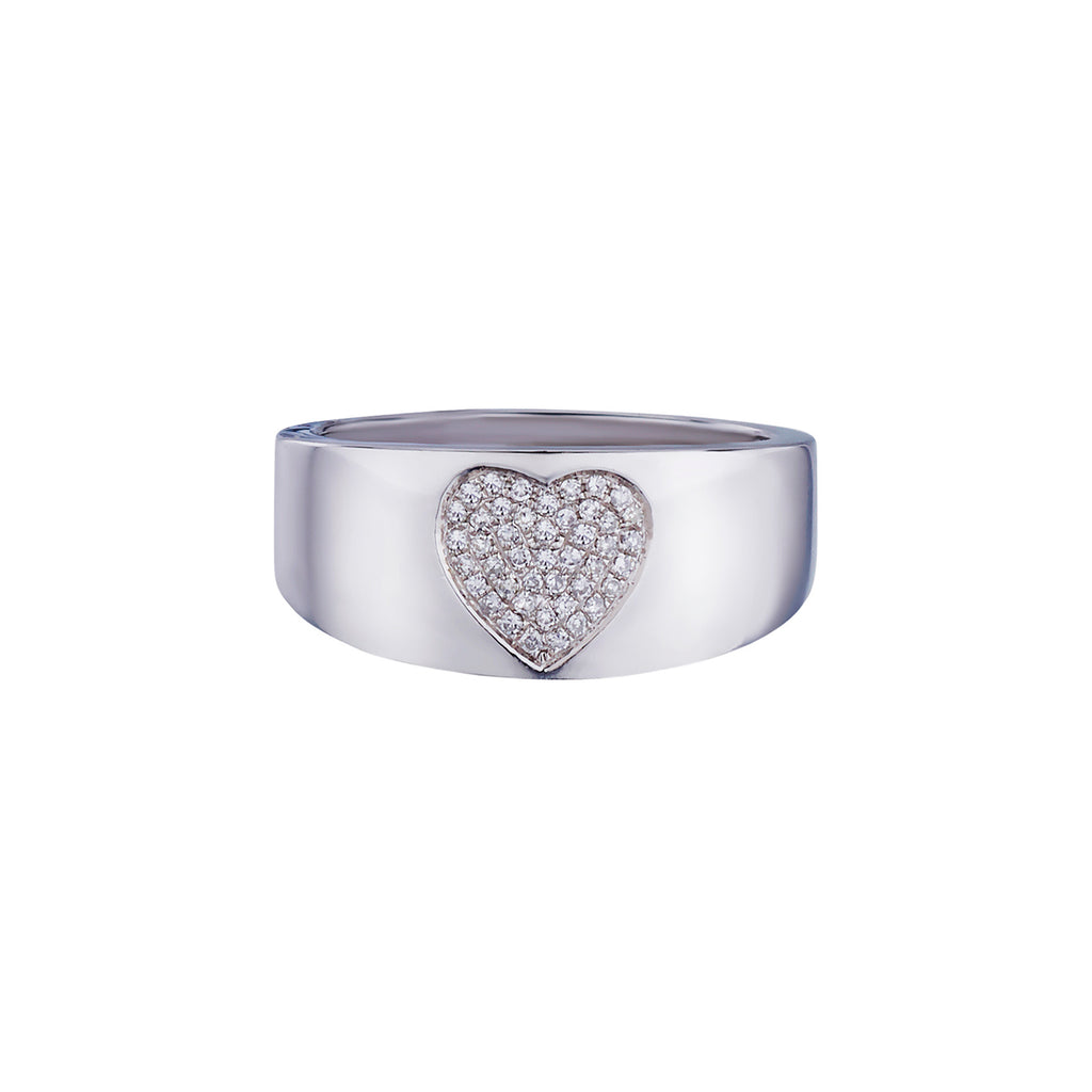 PAVÉ DIAMOND HEART BAND