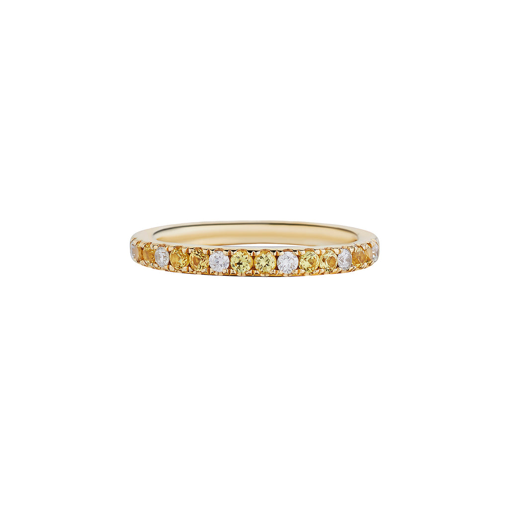 YELLOW SAPPHIRE & DIAMOND ETERNITY BAND