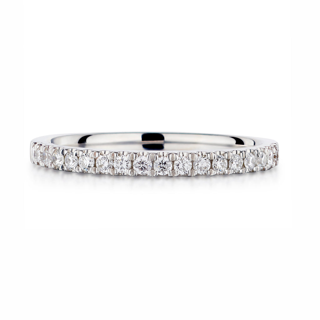 Micro Split claw Diamond Eternity Band