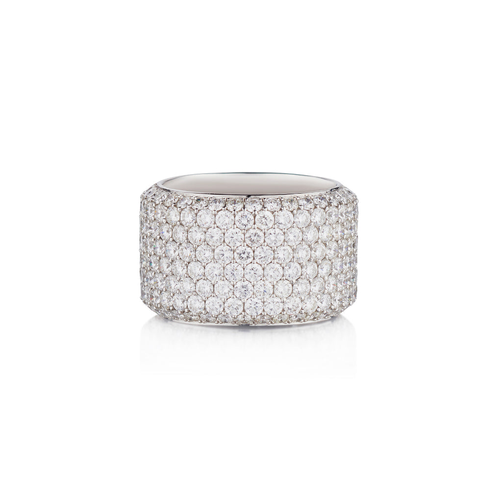 PAVÉ DIAMOND WIDE BAND