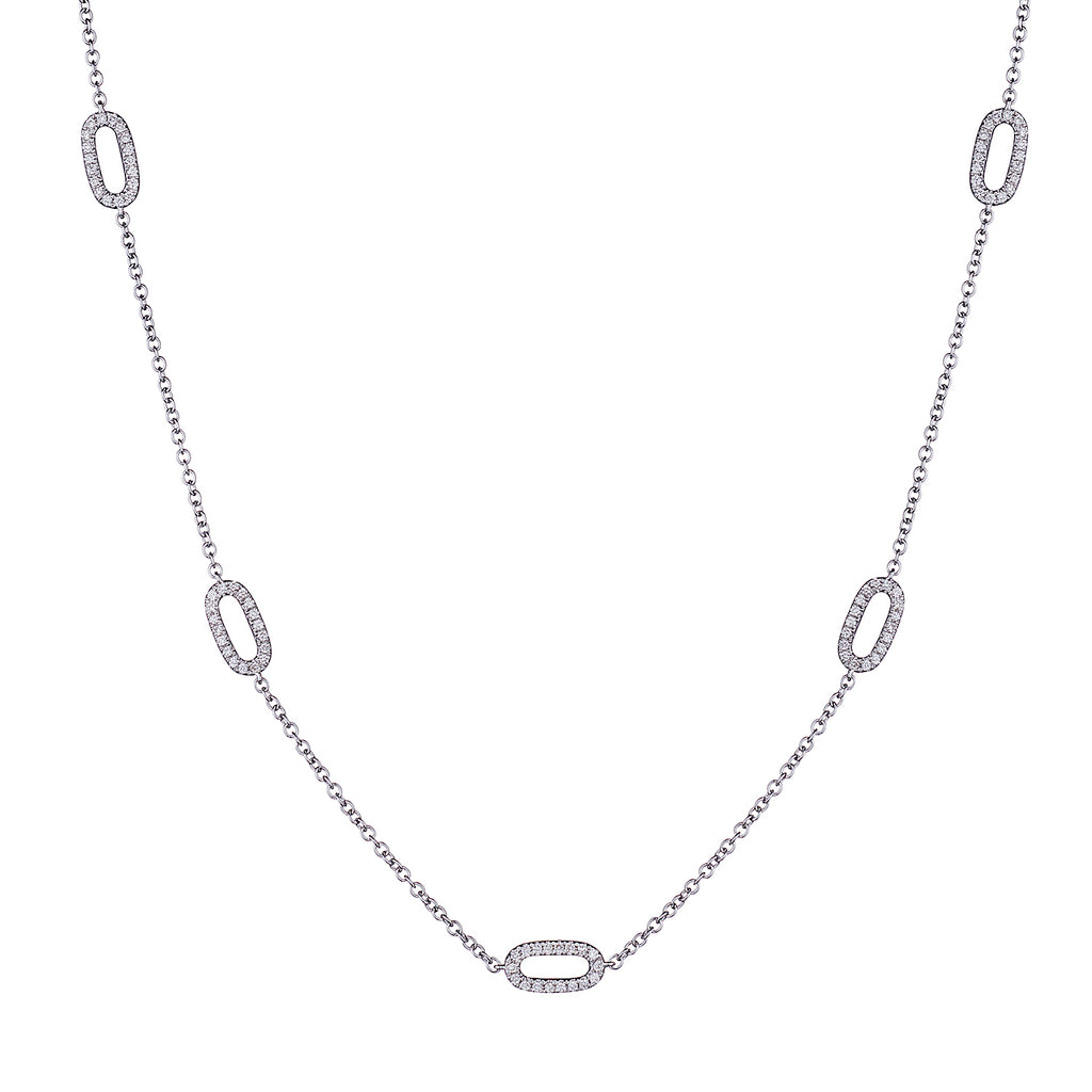 DIAMOND OVAL LINK NECKLACE