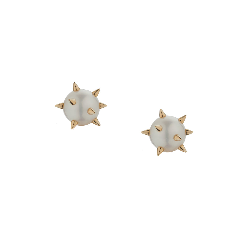 LARGE PEARL SPIKE STUDS