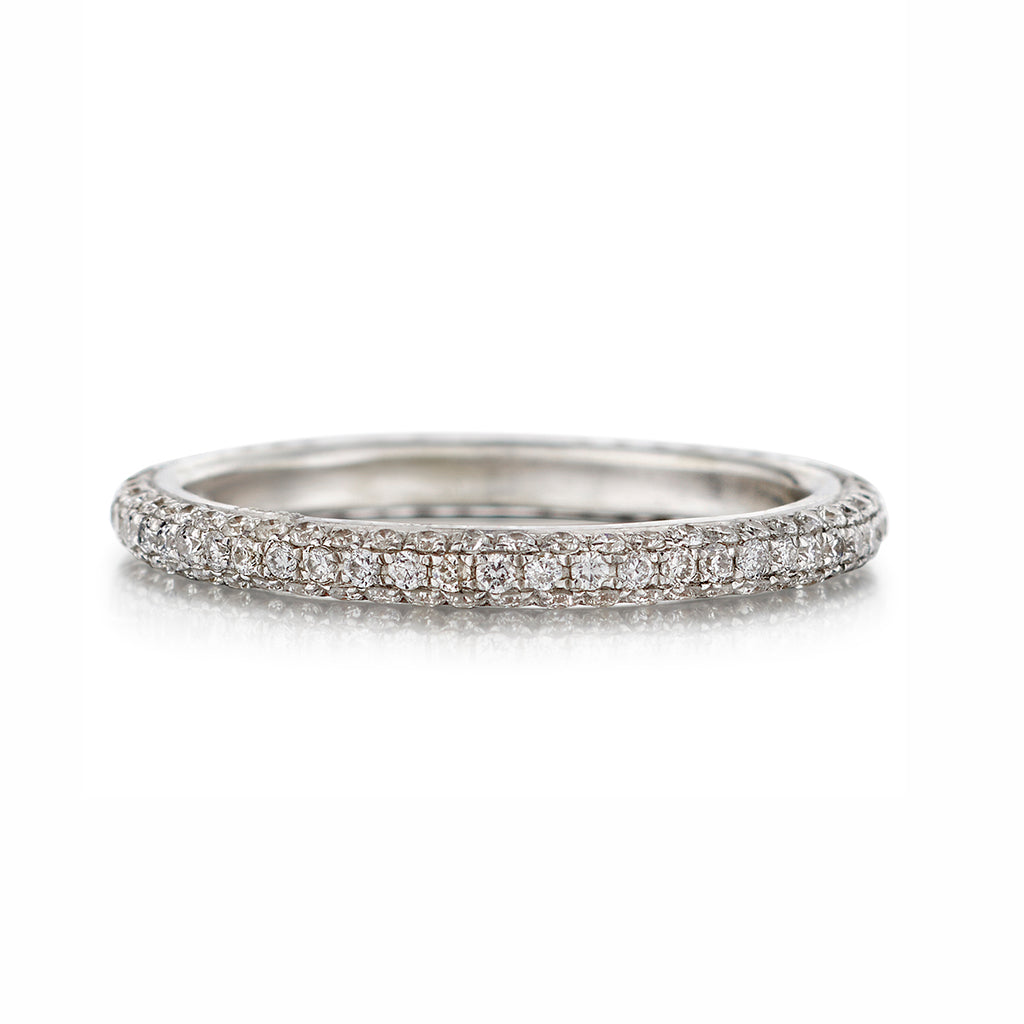 Triple Row Diamond Eternity Band