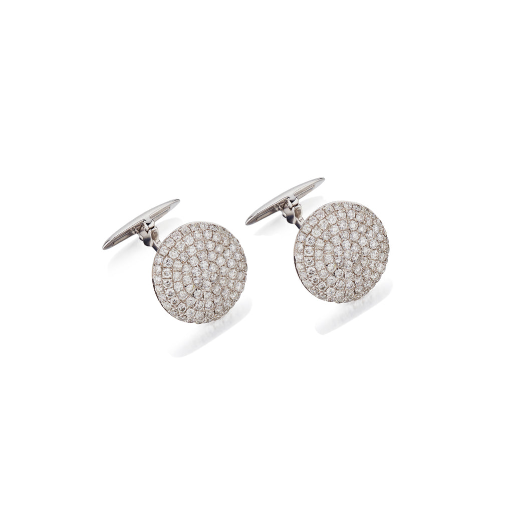 PAVÉ DIAMOND BUTTON STYLE CUFFLINKS