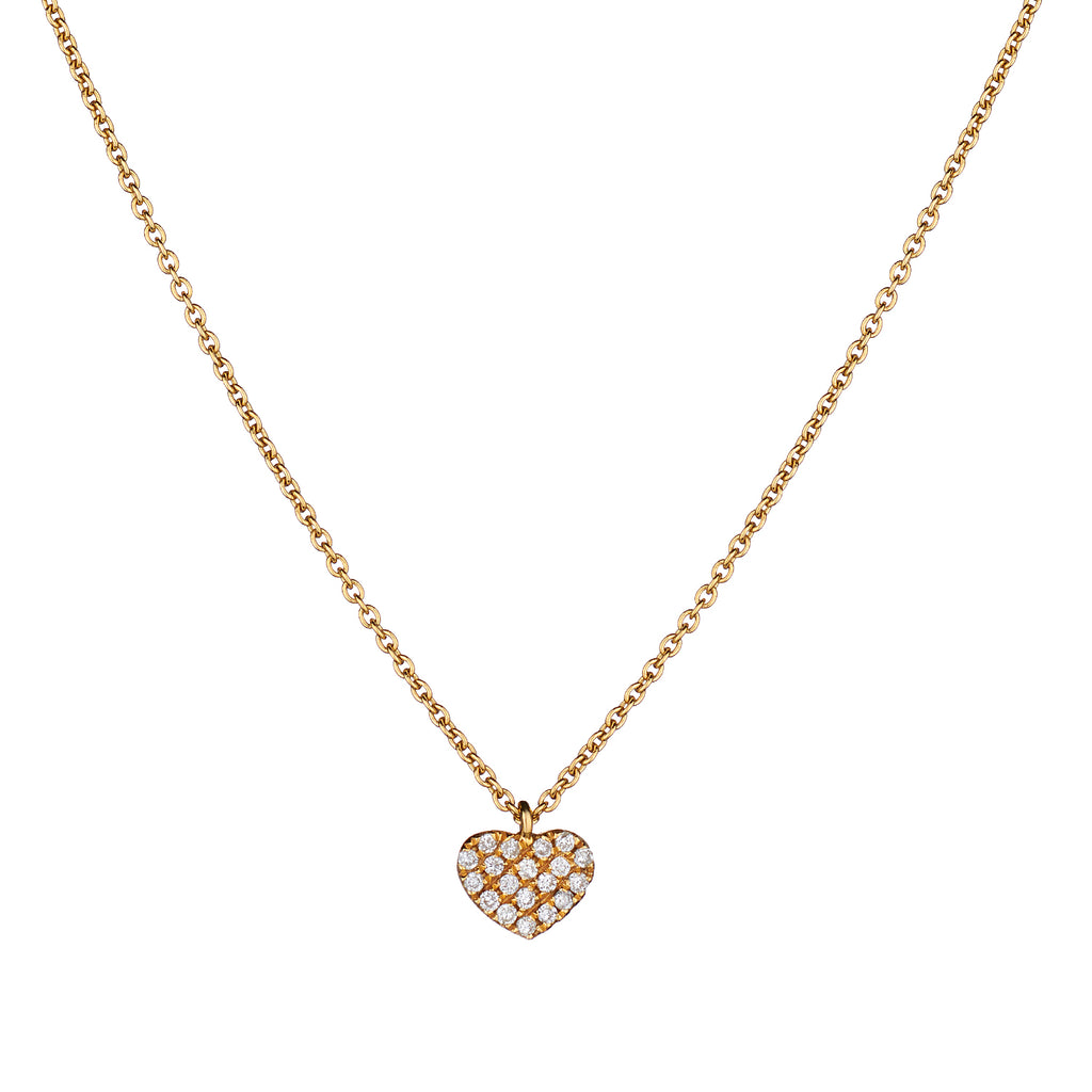 PAVÉ DIAMOND HEART NECKLACE